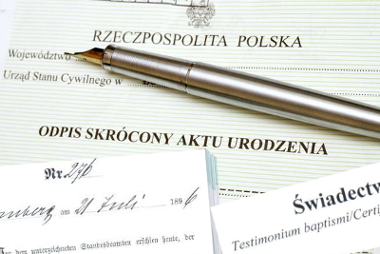 Documents from Poland procurement of copies of court judgments, birth certificates, marriage certificates, death certificates, baptismal certificates, land and mortgage register from Poland …