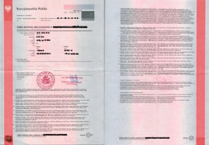 Multilingual abridged copy of birth certificate from Poland, International birth certificate Poland, Copy of international birth certificate from Poland