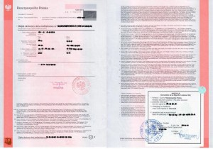 Abridged marriage certificate with apostille from poland, Polish marriage certificate with Apostille, Marriage certificate with apostille from Poland, Apostille marriage Certificate in Poland, Marriage Certificate with Apostille certification from Poland
