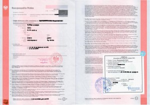 Polish birth certificate with Apostille, Birth certificate with apostille from Poland, Apostille Birth Certificate in Poland, Birth Certificate with Apostille certification from Poland
